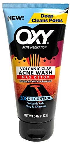 OXY Volcanic Clay Max Detox Acne Wash, 5 oz (Pack of 2)