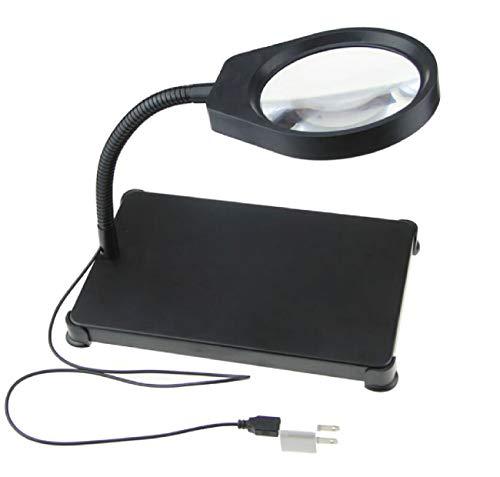 NYDZ 8-voudige bureaulamp met leeslamp oude LED vergrootlamp reparatie tafellamp glazen lens met vervalsingsfunctie 8-10 keer