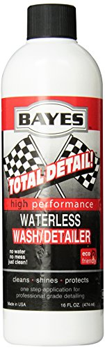 Bayes Premium Waterless Car Wash, 16-Ounce Bottle (Pack of 6)