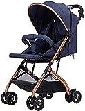 Portátil liviano de cochecito de cochecito de bebé Vista alta Cochecito de viaje Socha con arnés de seguridad de 5 puntos, para recién nacidos y niños pequeños