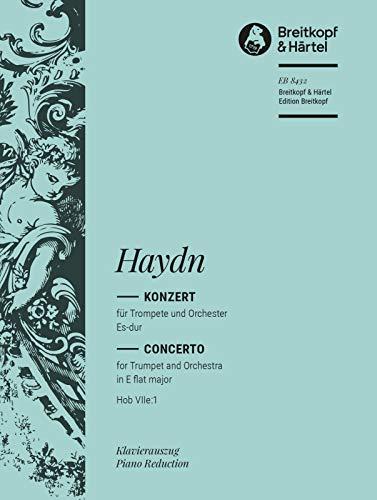 Trompetenkonzert Es-dur Hob VIIe:1 - Ausgabe für Trompete und Klavier mit zusätzl. B-Trompetenstimme (EB 8432)