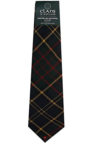 I Luv Ltd MacMillan Hunting Clan 100% Wool Scottish Tartan Tie
