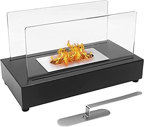 SXLCKJ Tischkamin Bio-Ethanol-Feuerstelle, Tragbare Feuerschale für den Innenbereich im Freien Topf ohne Abzug (Kamin)