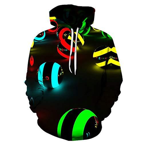 Best Bargain GREFER Unisex Sweatshirts 3D Printing Creative Top Shirts Classic Fit Round Neck Pullov...