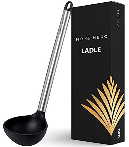 Ladle Soup Ladle Ladles for Cooking Laddle Kitchen Ladle Non Stick Black
