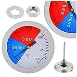 CULER 1PC 300 Grados del termómetro de Acero Inoxidable Barbacoa termómetros Fumador Grill Termómetro Medidor de Temperatura