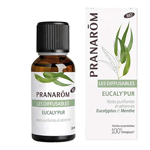 Pranarôm | Les Diffusables | Eucaly'Pur | Mélange d'Huiles Essentielles pour Diffuseur | Notes Purifiantes Et Aériennes | Eucalyptus et Menthe | Bio (Eco) | 30 ml