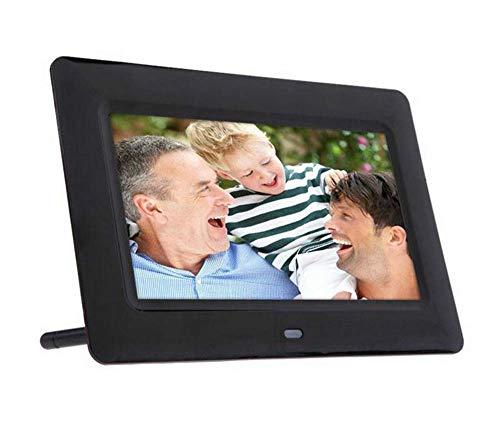 DLILI Marco Fotos Digital 13 Pulgadas Reloj Despertador Presentación Diapositivas MP3 / Kit Control Remoto 4 Jugadores, Negro