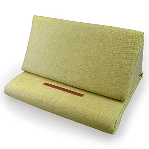 BonTime Faltbarer Tablette-Kissen-Standplatz, weicher Bett-Kissen-Halter mit rutschfestem ledernem Aufkleber für Buch-Kissen passt herauf Universalauflage und Tablette