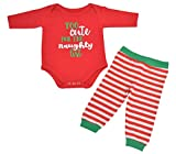 Unique Baby Unisex 1st Christmas Outfit Naughty List Onesie Layette (12 Mo) Red
