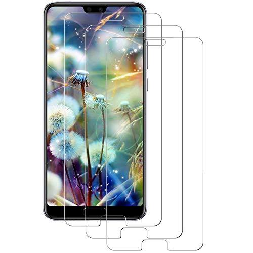 Aspiree 3-Unidades Cristal Templado Huawei P20, Protector de Pantalla Cristal Vidrio Templado Premium para Huawei P20,9H Vidrio Real No se despega uellas Dactilares Libre
