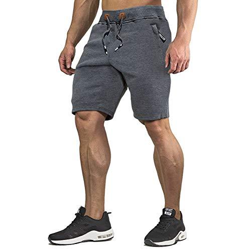 CRYSULLY Men Basketball Track Gym Workout Soccer Volleyball Baseball AthleticYoga Shorts Dark Grey
