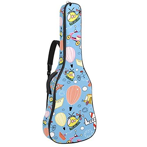 Bolsa de guitarra acústica multi-bolsillos acolchado grueso impermeable Guitarras caja de concierto bolsa de juguete juego avión bicicleta transporte 42x16x4.7 pulgadas