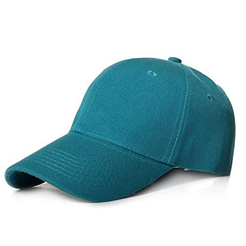 Victor Johnsond Kappe Plain Baseball Cap Frauen Männer Hysteresenkappen Classic Polo Style Hut Casual Sport Outdoor Einstellbare Kappe Mode Unisex Cap (Color : Dark Green 1)