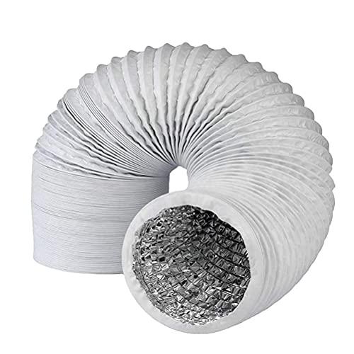 Hezhu PVC Abluftschlauch für Klimaanlagen, Wäschetrockner, Abzugshaube (150MM 3M)