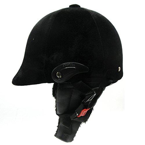 Horse Riding Helmet Equestrian Headgear with Warm Neck Protective Velvet Ear Shield