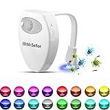 Wc Luz Nocturna Led,3D.Mr.Señor [Versión Última ]UV Esterilizador 16 Colores Sensor de Movimiento luz LED Automática Inodoro Luz para Baño, Facil de Limpia y Usar 100% Impermeable.