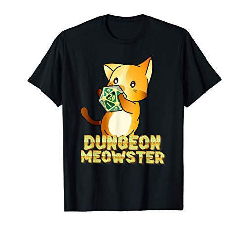 Dungeon Meowster Funny Cute Cat RPG LARP Camiseta
