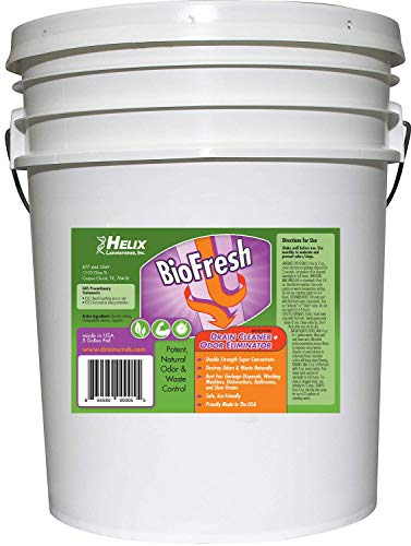 BioFresh - Enzyme Drain Cleaner & Odor Eliminator. Deodorizes and Unclogs Smelly Garbage Disposals, Washing Machines and Slow Drains. Super concentrate w/Pleasant Fragrance (5 Gallon)
