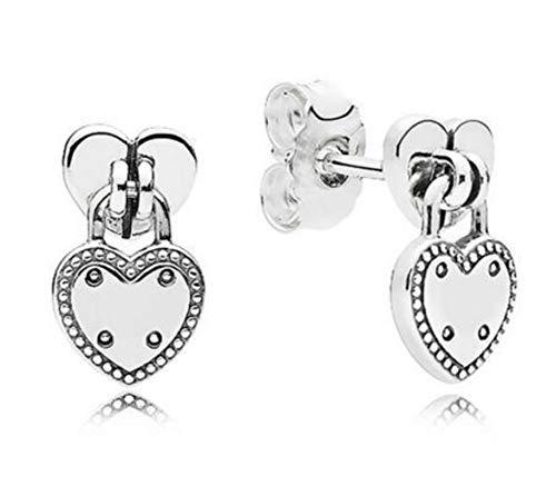 Miwaimao 925 Sterling Silber Ohrring Luftballon & Herz Silber Ohrstecker für Frauen Hochzeitsgeschenk Modeschmuck