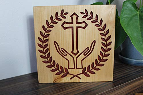 unknow geschnitztes Holzkreuz, christliches Kreuz, christliches Geschenk