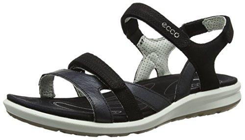 ECCO Damen CRUISE II Flat Sandal, Schwarz (BLACK/BLACK), 42 EU