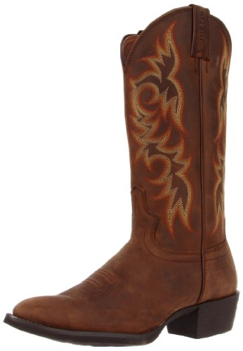 "Justin Boots Men's Stampede Collection 13"" Western Boot Medium Round Toe,Sorrel Appache,9 D US"