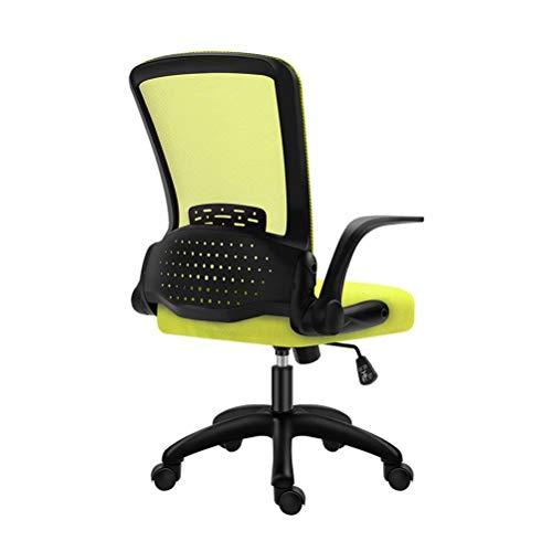 Mesh bureaustoel, draaibare computerstoel met opklapbare armleuningen