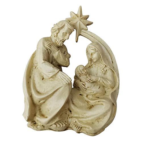 Nrkin Weihnachtskrippe, Mini-Krippe, Christi Geburt Weihnachtskrippen Figuren Weihnachtsschmuck