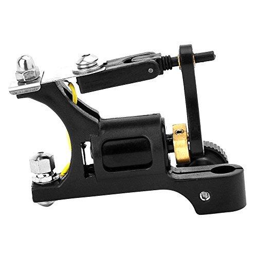Aluminium Alloy Rotary Motor Tattoo Machine Gun Professional Tattoo Equipment for Shader Liner Supply (Black)
