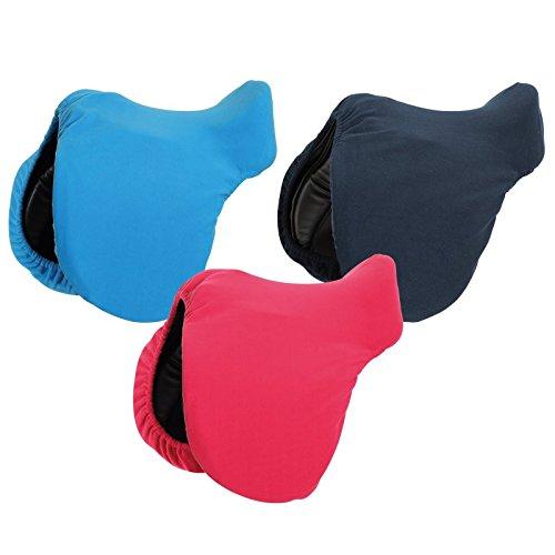 Funda polar para silla de montar, azul claro