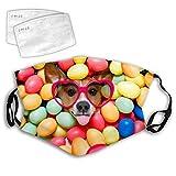 Unisex ajustable antipolvo perro divertido Halloween cara bufanda pasamontañas para deporte cabeza bufanda para hombres adolescentes niños