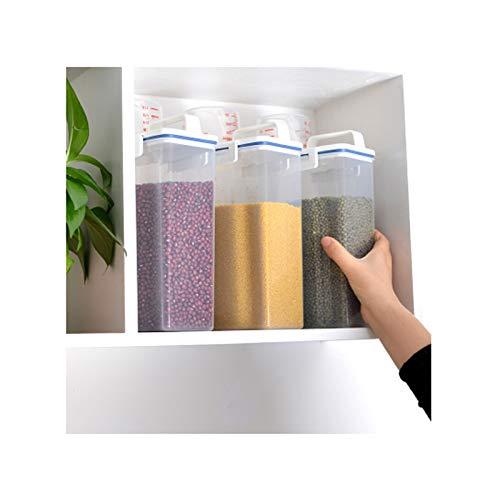 Dispensadores de cereales Cubo de mijo japonés 2kg Harina de hidromasaje de arroz de arroz de arroz Caja de almacenamiento de arroz Caja de almacenamiento de arroz Diseño portátil y duradero Contenedo