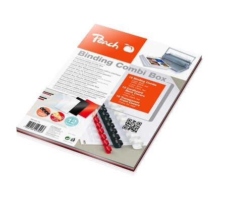 Peach PB100-14 Plastikbindeset für 12 Dokumente, DIN A4, 36-teilig