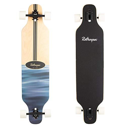Retrospec Rift Drop-Through Longboard Skateboard Complete, Ripple