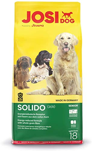 JosiDog Solido (18 kg) | Hundefutter für wenig aktive Hunde | Premium Trockenfutter für ältere oder ausgewachsene Hunde | powered by JOSERA | 1er Pack