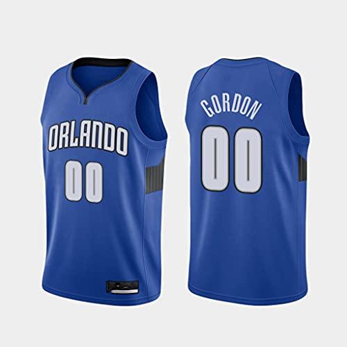 Ropa de Baloncesto para Hombre Orlando Magic 00# Gordon (Estilo 2) Nueva Camiseta de Chaleco sin Mangas de Moda Bordada Unisex,A,XL