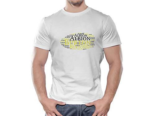Burton Albion FC Novelty Football Cloud T Shirt, (X Large)