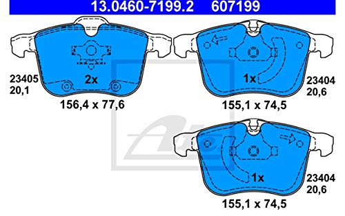 Preisvergleich Produktbild ATE 13.0460-7199.2 4x Bremsbeläge vorne