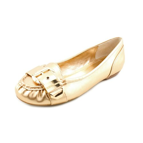BCBGeneration Women's Dylann Casual Gold Dust Powmet Flat 8.5 M