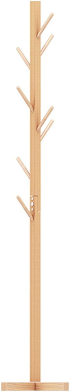 CSQ Solid Wood Coat Rack, Creative Bedroom Wooden Coat Rack Landing Single Rod Type Coat Rack 50  163CM (color   A)