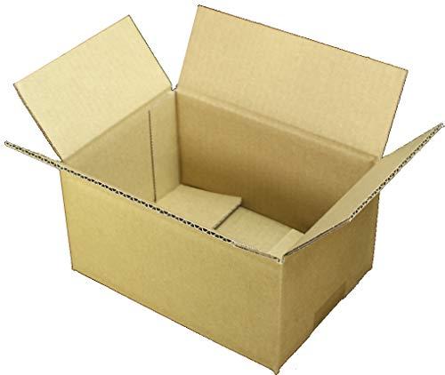 愛パック ダンボール 段ボール 50サイズ 60サイズ B6 対応 100枚 ダンボール箱 小型 宅配 発送 日本製 無地 薄型素材 (200×140×100mm) 50s04100