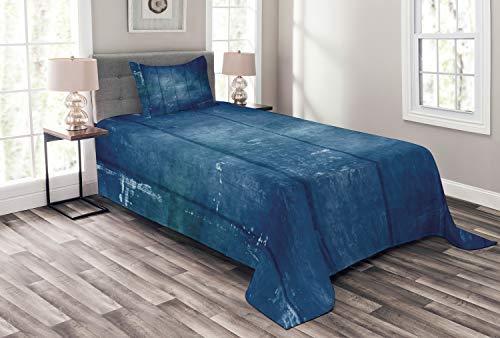 ABAKUHAUS Azul Oscuro Cubrecama, Retro Sky Tonos, Set Decorativo Colores y Estampa...