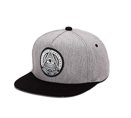 XibeiTrade Gorra de béisbol ajustable unisex Hip Hop Snapback al aire libre de ala plana sombreros