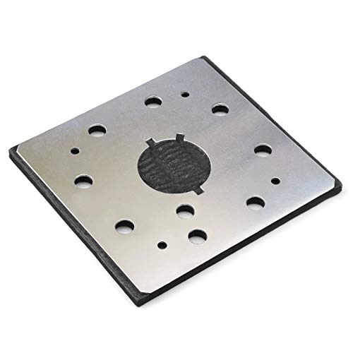 1/4 Sheet Sander Pad 8 Hole Stick on Square Sanding Pad Superior Electric Pads & Abrasives SPD18 Backing Plate Power Tool Replacement PartsReplaces Dewalt 151280-00, 151284-00SV(Pack of 1)