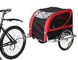 Leonpets Large Size Pet Dog Fahrradanhänger und Kinderwagen mit Federungsbremse 10403 Rot