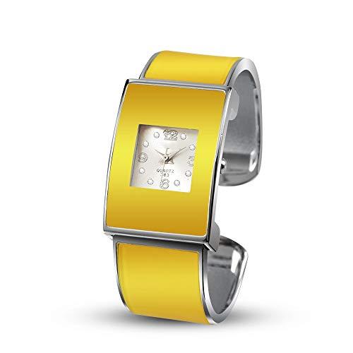 LLDSHB Frauen Uhren armreif Frauen weibliche Uhr damenuhr senden einem Freund gelb
