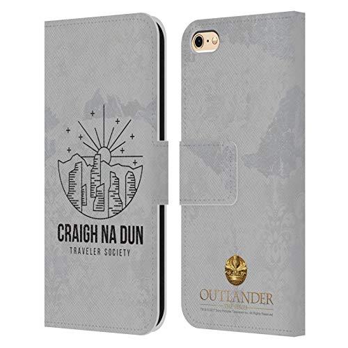 Head Case Designs Licenza Ufficiale Outlander Craigh Na Dun Grafiche Cover in Pelle a Portafoglio Compatibile con Apple iPhone 6 / iPhone 6s