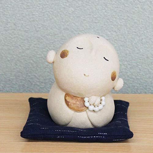 羽田桂子監修 陶器飾り(顔傾け地蔵 O-162-1236) 陶器 置物 常滑焼 日本製 昼ドラ