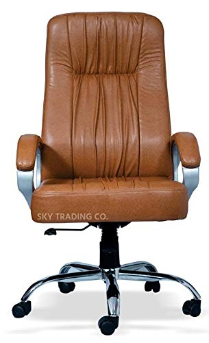 Sky REVOLVING Office Chairs/BOSS Series/Director Chairs/HIGH Back Chairs(TAN Color)